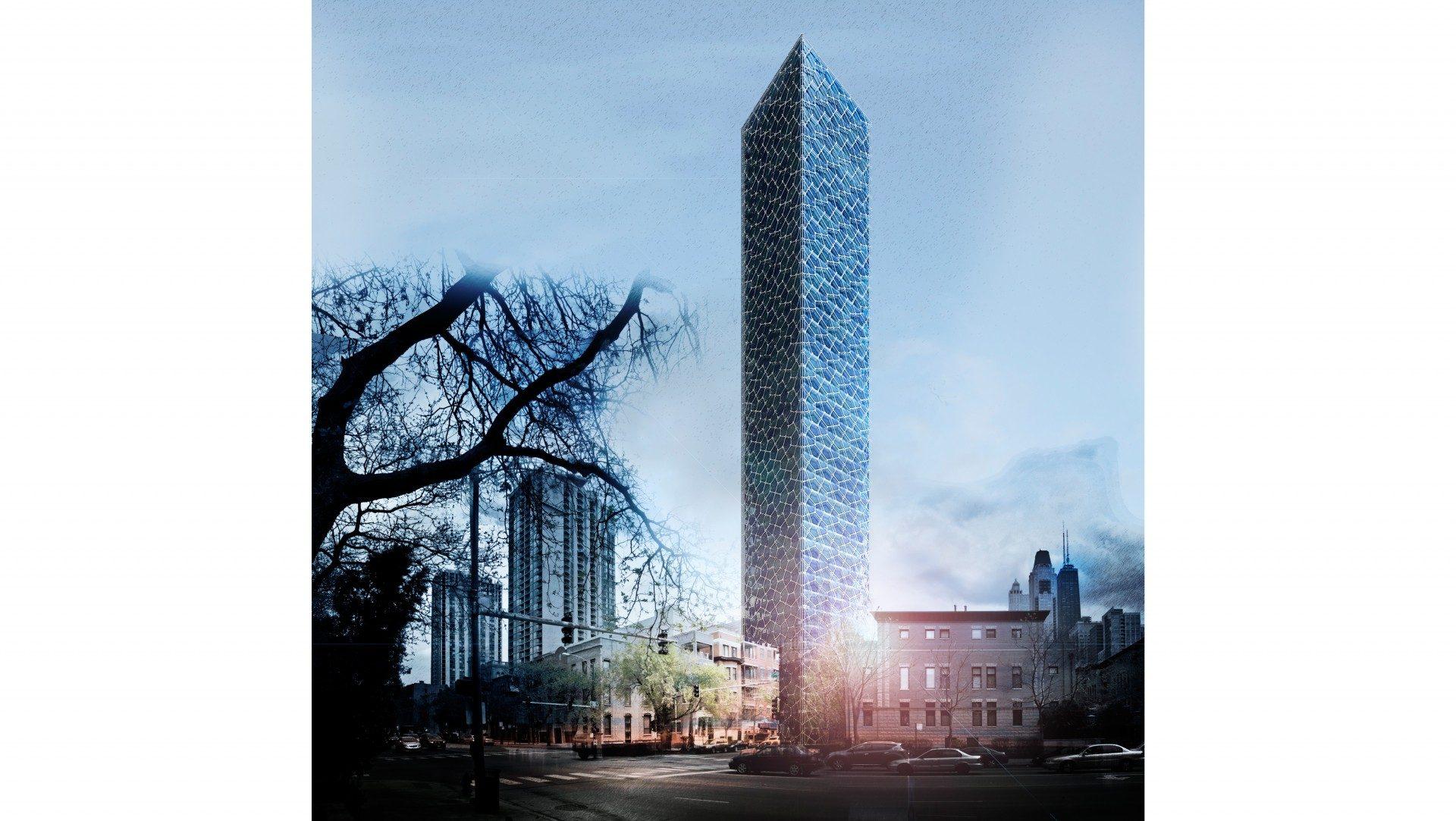112 W Oak St Tower rendering 1